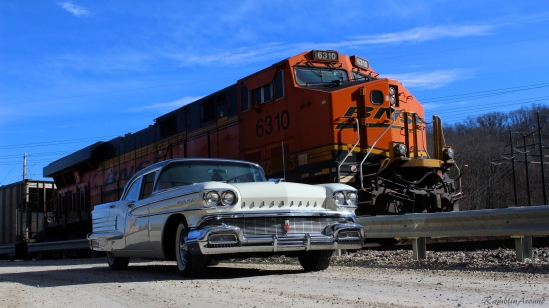 1958 Olds next to Train final for FB more color and Contrast
